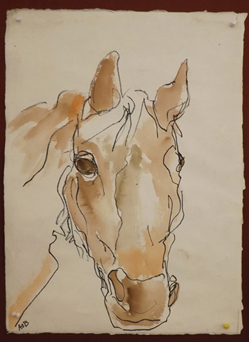 'Thunder.' Watercolor by Alice Billings.