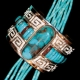 Tommy Jackson turquoise and silver bracelet