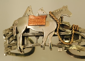 Horse bracelet from Ouray Silversmiths.