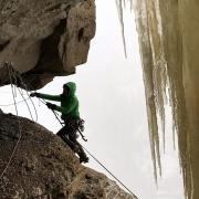 Beth Goralski ice climber